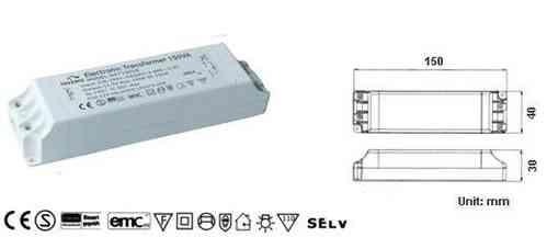 Eaglerise Halogen Transformer 11.5V~eff. / 50 - 150W
