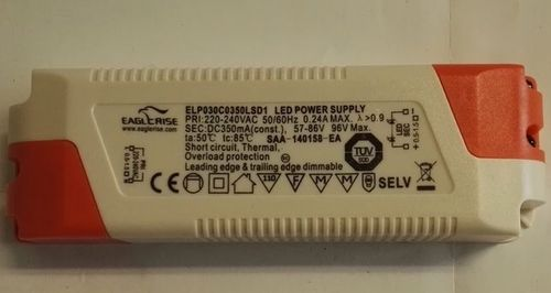 Eaglerise  ELP030C0350LSD1 constant current 350mA / 57-86V Dimmable LED Driver