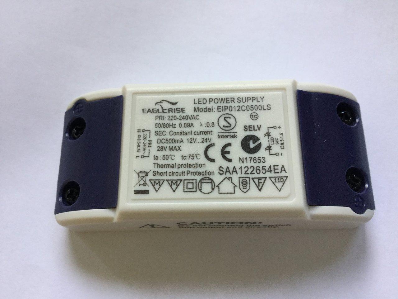 12-24Vdc  6-12W Eaglerise ELP012C0500LS  LED-Netzteil  500mA